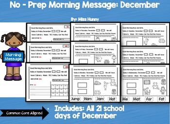 No Prep Morning Message :December