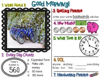 No Prep Morning Work - April