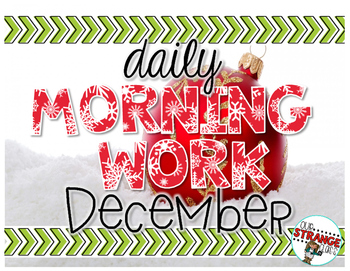 No Prep Morning Work - December