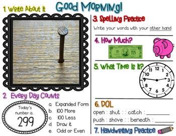 No Prep Morning Work - January