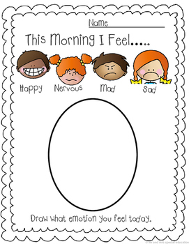 No Prep Morning and Afternoon Emotion Tracker Printable Bundle