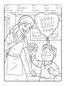 No Prep - Mother's Day Fact Practice Worksheet