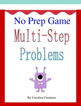 No Prep Multi-Step Word Problem Game 4.OA.A.3