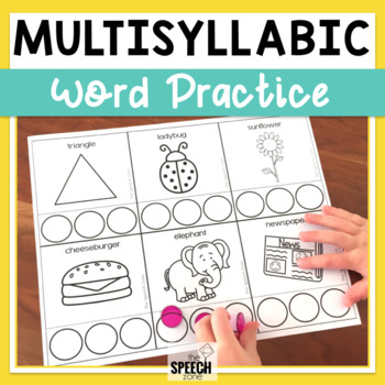Multisyllabic Words Do-A-Dot Worksheets and Pacing Cards