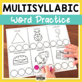 No Prep Multisyllabic Words Do-A-Dot Worksheets and Pacing Cards