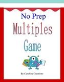 No Prep Multiples Game Fourth Grade Common Core Math 4.OA.4