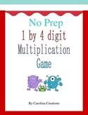 No Prep FREEBIE Multiplication 1 by 4 Digit Game 4.NBT.5