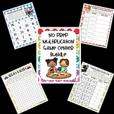No Prep Multiplication Center Game Growing Bundle OA
