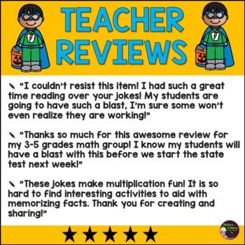 No Prep Multiplication Fact Practice 7's -12's with Halloween Jokes
