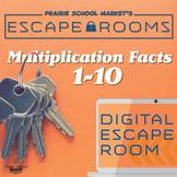 NO-PREP Math Escape Room - Multiplication Facts 1-10 - Math Drills & Test Prep