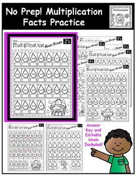Multiplication: No prep facts practice