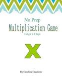 No Prep Multiplication Game 2-Digit Numbers 4.NBT.B.5