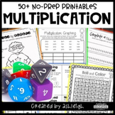 No Prep Multiplication Printables - Teach the Concept of M