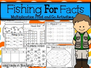No Prep Multiplication Printables and Games