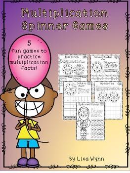 No Prep Multiplication Spinner Games