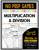 No Prep Multiplication and Division Games by Marvel Math
