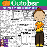 No Prep Music Worksheets - OCTOBER