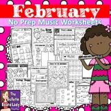 No Prep Music Worksheets - February