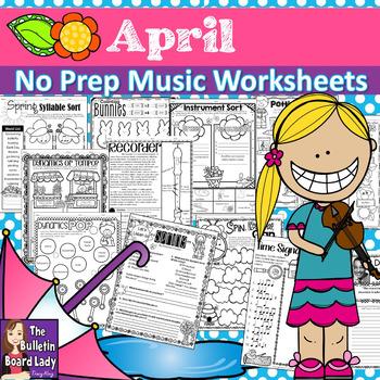No Prep Music Worksheets Growing ENDLESS Bundle