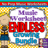 No Prep Music Worksheets Growing ENDLESS Bundle