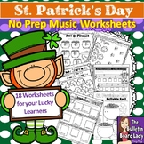 No Prep Music Worksheets - St. Patrick's Day