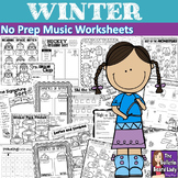 No Prep Music Worksheets - WINTER