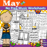 Distance Learning No Prep Music Worksheets for MAY