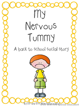 No-Prep: My Nervous Tummy Social Story and Worksheet Packe