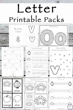 No-Prep N - Z Letter Printable Packs {BLACK AND WHITE}