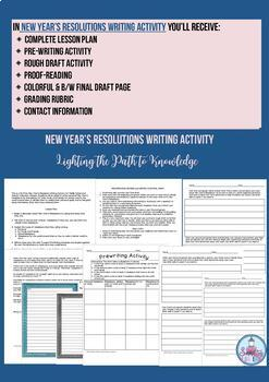 New Year' s Resolutions Writing Prompt (Grades 6-8)