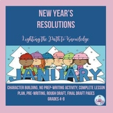 New Year's Resolutions Writing Activity (Grades 6-8)
