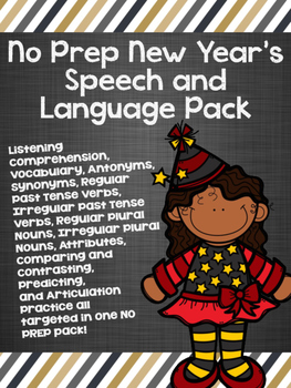 No Prep New Year's Speech and Language Pack