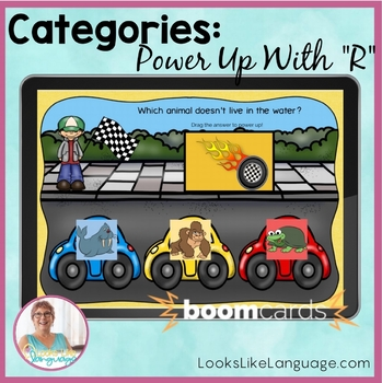 BOOM Teletherapy Cards | No Print Picture Category Activity | R Sounds