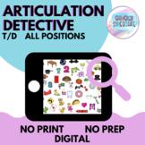 Articulation Detective (T/D) | No Prep No Print Digital
