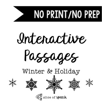 No Prep/No Print Winter & Holiday Stories with REAL Photos