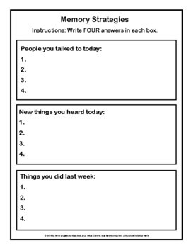 No Prep No Sweat Functional Divergent Naming, Safety and Recall Worksheets