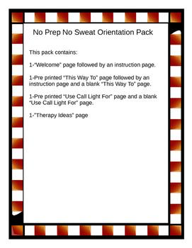 No Prep No Sweat Orientation Pack