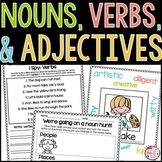 Nouns, Verbs, and Adjectives Worksheets