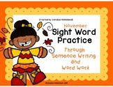 No Prep November (Fall & Thanksgiving Themed) Sight Word P