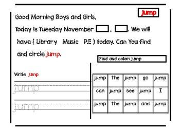 No Prep Morning Message: November