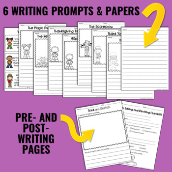 Writing and Word Work Package for November - NO PREP!