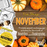 No Prep November and Thanksgiving