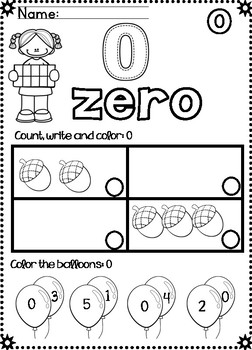 No Prep Numbers 0-10: Counting, Finding, and Building  Number 0-10