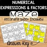 No Prep Numerical Expressions Review Maze
