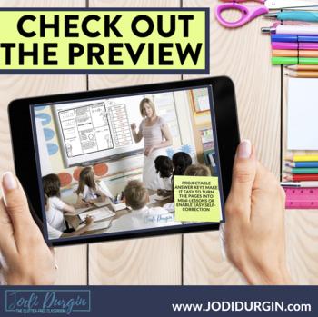 October Morning Work or Third Grade Math Homework Spiral Review