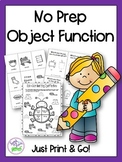 No Prep Object Functions