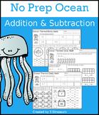 No Prep Ocean Addition & Subtraction