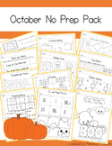 No Prep October / Halloween Math and Literacy