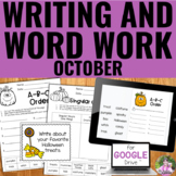 Writing and Word Work for October | Distance Learning | Go