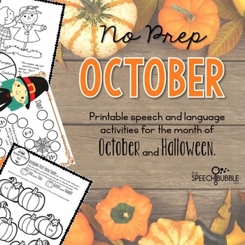 No Prep October and Halloween